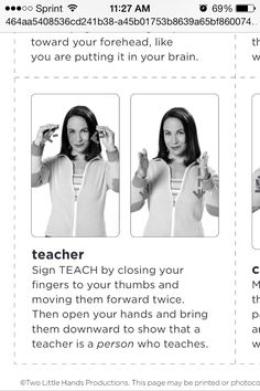 American sign language for teacher