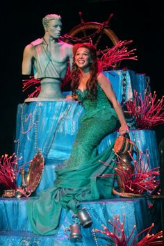 """a50438f66777 Jessica Grové as Ariel in the Music Circus production of """"The Little Mermaid""""  at the Wells Fargo Pavilion July Photo by Charr Crail."""