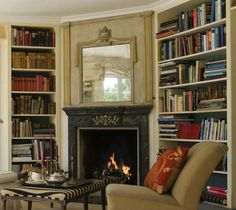 Library & Real Fire