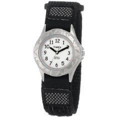 Timex Kids' T79051 My First Outdoor Black Fast Wrap Velcro Strap Watch  #watch #timex #kids