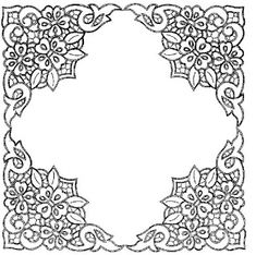 Pattern for Richelieu embroidery Cutwork Embroidery, Vintage Embroidery, Embroidery Patterns, Lace Painting, Stencil Painting, Beaded Jewelry Patterns, Beading Patterns, Border Pattern, Pattern Design