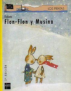 """""""FLON-FLON Y MUSINA"""": Flon-Flon y Musina son los mejores amigos del mundo, pero algo que no saben lo que es y que no entienden, los separa. Ese algo extraño y cruel es la guerra. Maravilloso cuento que, con una exquisita sensibilidad acerca a los niños mas pequeños a conocer, casi con sus propias palabras, el invento mas terrible de la humanidad: la guerra."""