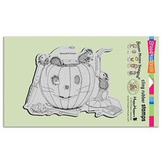 Stampendous Cling Stamp PUMPKIN CARVING Rubber UM HMCR43 House Mouse