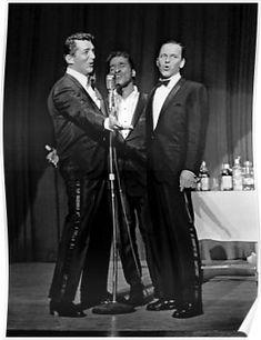 The Rat Pack: Frank Sinatra, Sammy Davis Jr and Dean Martin Golden Age Of Hollywood, Hollywood Stars, Classic Hollywood, Old Hollywood, Dean Martin, Joey Bishop, Franck Sinatra, Peter Lawford, Sammy Davis Jr