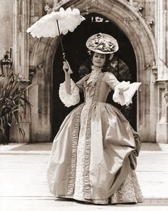 """Margaret Lockwood in """"The slipper and the rose"""" 1976. Costume design by Julie Harris."""