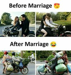 Expectations vs Reality (Relationship Edition) - LOL WHY Funny Laugh, Funny Jokes, Funny Life, Lame Jokes, Hilarious Stuff, Before And After Marriage, Funny Images, Funny Pictures, Memes Estúpidos