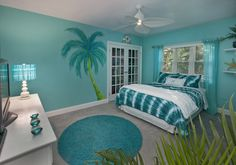 Save it for later. Turquoise room ideas - turquoise bedroom ideas for girls, boys, and adult. There's also another turquoise room ideas like living room and family room. Check 'em out! house bedroom, Stunning Turquoise Room Ideas to Freshen Up Your Home Bedroom Themes, Girls Bedroom, Bedroom Beach, Master Bedroom, Trendy Bedroom, Beach Theme Bedrooms, Bedroom Colors, Beach Themes, Bedroom Wall
