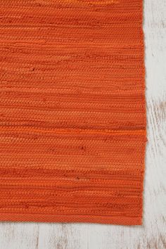 Orange and Blue guest room 4x6 Solid Rag Rug  Free Shipping!    $69.00