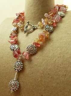 Red Salsa & Chips Necklace and Earrings Set by LakeBlueDesigns, $20.00
