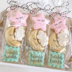 trendy baby shower cookies ideas gender reveal - Everythink for Babyshower Star Cookies, Mini Cookies, Baby Cookies, Baby Shower Cookies, Baby Shower Favors, Baby Shower Biscuits, Gateau Baby Shower, Deco Baby Shower, Baby Girl Shower Themes