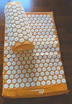 Orange Acupressure Mat with Pillow Set - Back and Neck Pain Relief  #Prosource