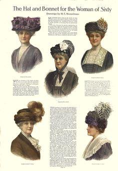 The Edwardian toque hat Vintage Outfits, Vintage Fashion, Vintage Hats, Vintage Clothing, Edwardian Era Fashion, Tea Hats, 20th Century Fashion, Gibson Girl, Historical Costume
