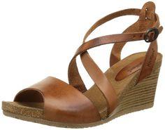 Kickers SPAGNOL Damen Knöchelriemchen Sandalen mit Keilabsatz: Amazon.de: Schuhe & Handtaschen
