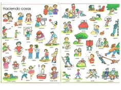 Haciendo cosas. Estar + gerundio. ¿Qué estás haciendo? Here are lots of useful verbs you can use.