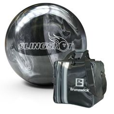 Santas Tools and Toys Workshop: Sports: Brunswick Slingshot Pearl Bowling Ball (Silver/Black, Bowling Shoes, Bowling Ball, Silver Color, Black Silver, Bowling Equipment, Brunswick Bowling, Toy Workshop, Bowling Accessories, Tools And Toys