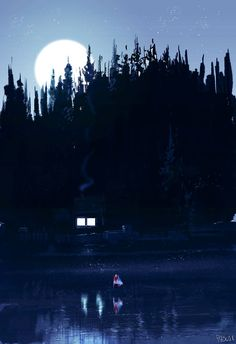 River bank in blue by PascalCampion on DeviantArt