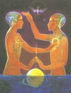 Twin Flames Revealed ~ The True Love Story – Rising Up The Ladder of Love Art Inspo, Art Hippie, Twin Flame Love, Twin Flames, Art Amour, Art Visionnaire, Twin Souls, Visionary Art, Retro Futurism