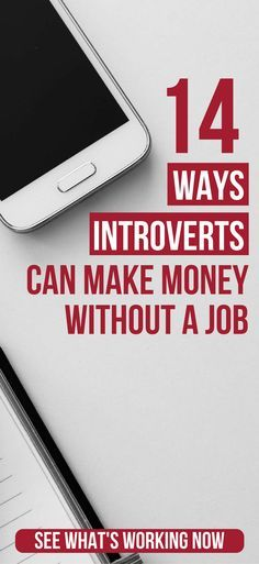 14 Ways Introverts Can Make Money Without A Traditional Job ways to make extra money | jobs for stay at home moms | jobs for introverts | jobs for introverts career | high paying work from home jobs #workingfromhome! #telecommute #jobs