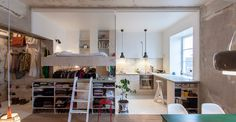 When most of us think of housing shortages, we think of the micro-apartments of Hong Kong or New York. But Stockholm is in the midst of its own shortage, and with it, incredibly resourceful solutions. Take, for example, this 387-square-foot apartment in an old storage unit.