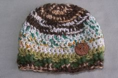 Crochet Hat Baby Boy Camouflage  Newborn by crochethatsbyjoyce, $12.00