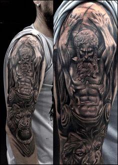 Hals Tattoo Mann, Tattoo Hals, I Tattoo, Tatouage Hercules, Hercules Tattoo, Cool Small Tattoos, Cool Tattoos, Gladiator Tattoo, Half Sleeve Tattoos For Guys