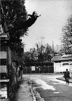Yves Klein - Leap Into The Void / Le Saut Dans Le Vide (1960) by blacque_jacques, via Flickr