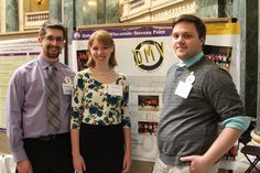 """Three of our students presenting """"DMV the Musical"""" at Posters in the Rotunda on April 22, 2015."""