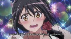 """Misaki:""""I really want to join hand"""""""