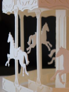 merry-go-round Pop-Up paper craft Up Book, Book Art, Paper Art, Paper Crafts, Pop Up Art, Art Origami, Dream Art, Kirigami, Paper Toys