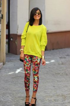 Floral leggins