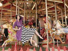carousel + stripes + purple = yay!