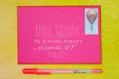 Hand Lettering Envelope Address Tutorial Ladyfingers Letterpress, Oh So Beautiful Paper