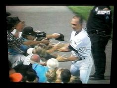 Cal Ripken Jr. Breaks Lou Gehrig's record, September 6th, 1995.  This was one of the very best moments in baseball.