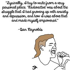 Imagine Dragons Frontman Dan Reynolds Talks Success, In Illustrated Form. Illustration by Jena Ardell for O.C. Weekly Music.