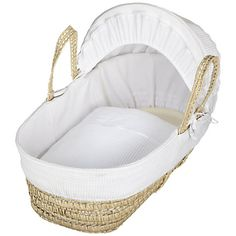 Buy John Lewis Waffle Moses Basket, White Online at johnlewis.com