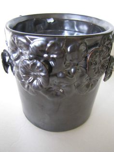 WoodWick Highly Fragranced Citrus Candle in Pewter Color Floral Decorator Jar  #WoodWick. Unique raised floral motif glass jar.