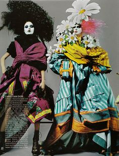 Christian Dior Haute Couture in Glucks Offensive by Ruven Afanador for Vogue Germany April 2003