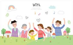 Family Illustration, Kids Reading, Art For Kids, Beautiful Flowers, Diy And Crafts, Character Design, Clip Art, Learning, Children