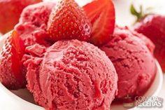 Receita de Sorvete de morango gostoso - Comida e Receitas