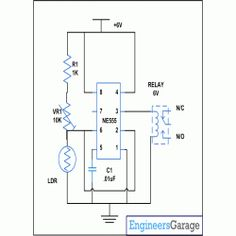 outdoor garden solar lights circuit schematic. All for