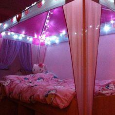 Bedroom Decoration Trends with Fairy Light : Princess Fairy Lights Bedroom Ideas