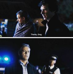 "Sherlock ""The Final Problem Greg's face! I love how he is still surprised Sherlock remembers his name. Sherlock ""The Final Problem"". Sherlock Fandom, Sherlock John, Sherlock Holmes, Sherlock Season 4, The Final Problem, Rupert Graves, Mrs Hudson, Benedict Cumberbatch Sherlock, 221b Baker Street"