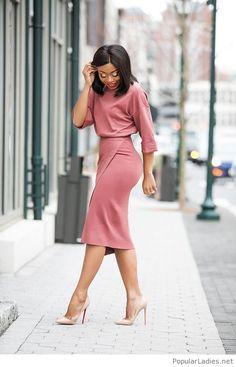 70 Casual Work Outfits für schwarze Frauen - Dresses for Women Casual Work Outfits, Business Casual Outfits, Office Outfits, Work Casual, Chic Outfits, Office Wear, Office Chic, Office Style, Black Work Outfit