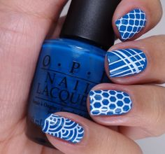 Stamping nail art using MoYou London Pro Collection Plate 02