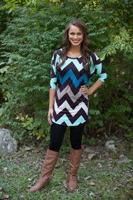 Now You See Me Chevron Tunic CLEARANCE!!