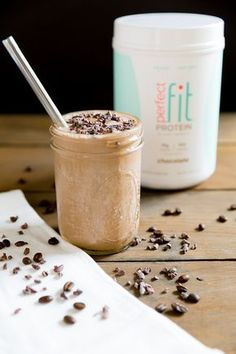 Chocolate Espresso Protein Smoothie shared by Modish and Main