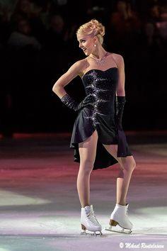 Kiira Korpi, Black Figure Skating / Ice Skating dress inspiration for Sk8 Gr8 Designs.
