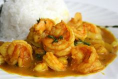 Curried Shrimp Recipe - I also added the pre-made curry paste, garlic, and red pepper flakes