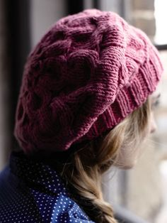 COSBY SLOUGH HAT from City Knits by Amy Butler (ZK38) features 14 designs by Amy Butler and Lisa Richardson using Belle Organic DK and Belle Organic Aran | English Yarns