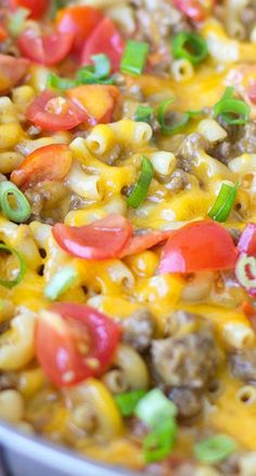 One Pan Taco Macaroni and Cheese Recipe ~ The perfect blend of spices and cheesy pasta goodness. It's one dish that your whole family is sure to love!